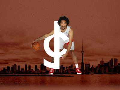 Justin Champagnie ✦✦✦ Brand Identity Concept raptors toronto pitt penny athlete logo basketball
