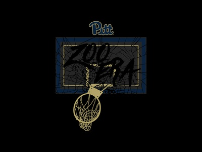 Zoo Era Blackout Shirt - Pitt Basketball