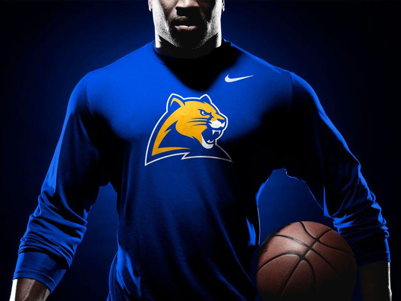Pitt Panther 3.0 Concept : Basketball Warmup Mockup university college basketball mascot sports logo panther panthers pitt pittsburgh