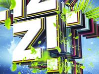 Izzi logo 3d