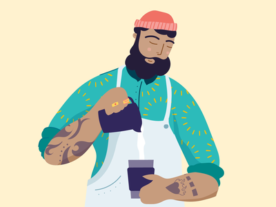 Wake up and smell the coffee ☕️ illustration design branding animation