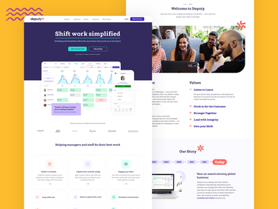 Our fresh website ✨ redesign website ux ui rebrand deputy web design brand design