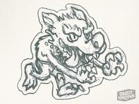 Wolfman Sticker - sketch