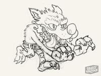 Wolfman Sticker - sketch #2