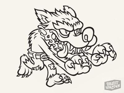 Wolfman sticker ink 1x