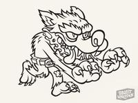 Wolfman Sticker - inked