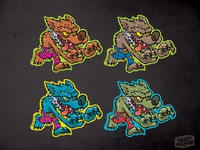 Wolfman sticker colorgroup