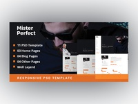 Mister Perfect - Minimal CV/Resume PSD Template