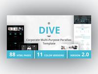 DIVE - Corporate Multi-Purpose Parallax Template