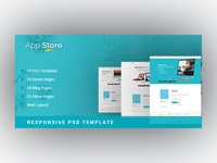 APP STORE - App Landing Page PSD Template