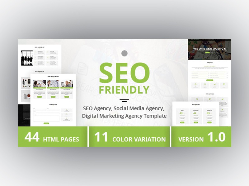 Seo friendly seo agency social media agency template by dueza seofriendly html maxwellsz