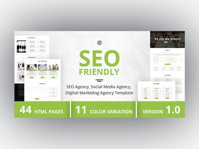 SEO Friendly - SEO Agency, Social Media Agency Template creative template themeforest corporate template company portfolio agency template digital marketing agency social media agency envatomarket multipurpose template seo agency bootstrap template bootstrap