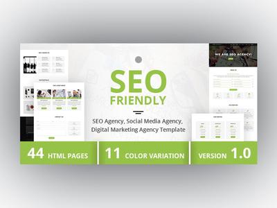 SEO Friendly - SEO Agency, Social Media Agency Template by Dueza.Com ...