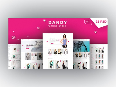 Ecommerce Psd Template designs, themes, templates and downloadable