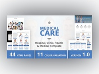 Medical Care - Hospital, Clinic, Health & Medical Template