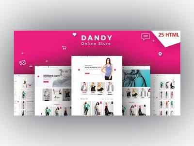 DANDY - Multi-Purpose eCommerce HTML Template store shopping shop retail responsive online store online shop lifestyle store lifestyle html template fashion ecommerce