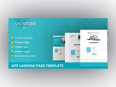 App Store - App Landing Page Template onepage template mobile app landing page mobile app landing mobile app landing page bootstrap apps app template app showcase app landing page app landing app