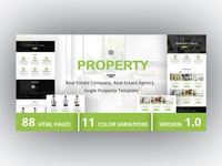 PROPERTY - Real Estate Company, Real Estate Agency Template
