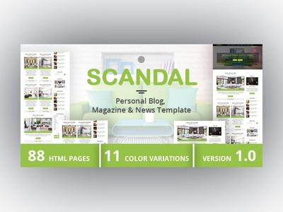 SCANDAL - Personal Blog, Magazine & News Template news responsive template news template photo gallery personal blog magazine html template html blog html bootstrap blog template blog