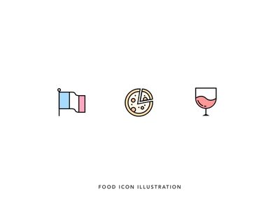 Quick illustration sketch grid book minimal icons wine outline icons grid pizza glass flag illustration icon