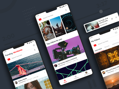 Simplifying Youtube design google video app search bar material interaction ui ux simplified redesign native app problem solving case study app android material design content youtube