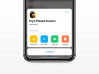 Mini Profile exploration for Hike Messenger