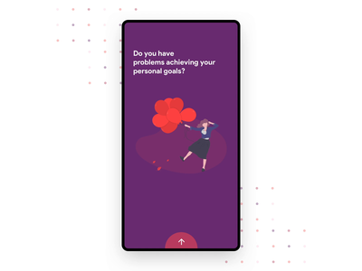 Goal Achiever App Onboarding slide out bold cards colorful swipe design material design aftereffects simple ripples goal android material interaction principle motion animation ui ux app onboarding
