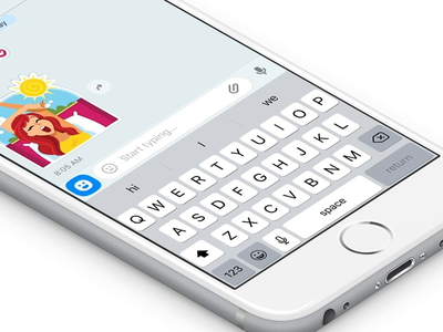 Quick Reply fun simple conversational quick replies chat app palette design aftereffects machine learning ios android stickers quick responses animation icon interaction app motion ux ui