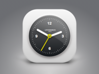 Clock Icon ios watch icon app white time number sketch clean