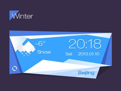 winter weather widget interface winter