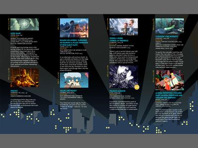 Interior of 4-panel Brochure art direction oldie brochure print panels graphic design festival wfac