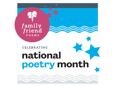 Celebrating Poetry Month! waves stars promotion poetry graphics branding social media