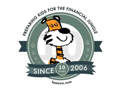 Anniversary Badge cartoon ribbon banner celebration graphic illustration anniversary badge