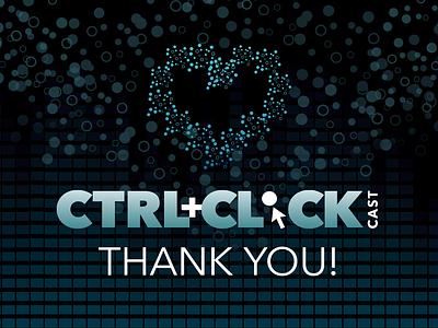 Thanks For Listening! heart bubbles graphic design visual design podcast podcast art design texture logo social media
