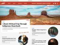 Widescreen View of News Site Design Exercise