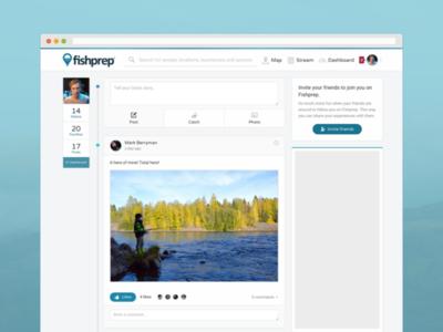 Debut :: Fishprep.com - Stream angler community startup website information network fishing social feed stream web fishprep social media