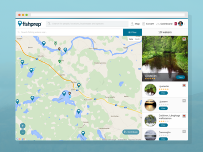 Fishprep Map social media fishprep web map social fishing information network website startup community angler