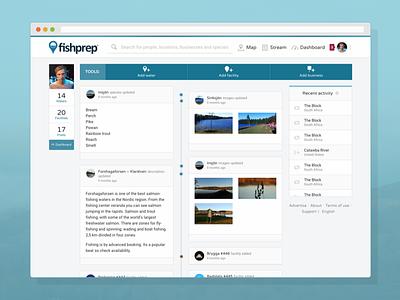 Fishprep.com - Dashboard content community startup website information network fishing social web fishprep social media dashboard user