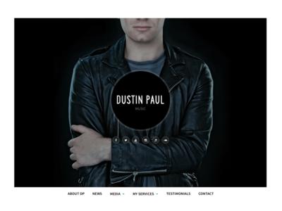 Dustin Paul - Hero singer music hero header fullscreen dustin paul artist website web