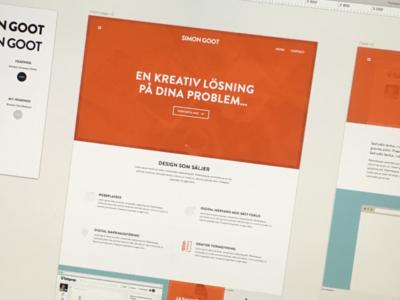 New personal Website & Brand profile brand profile logotype logo sketch portfolio orange flat design simon goot website web