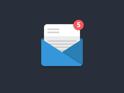 Mail icon flat mail clean blue ios mobile
