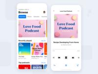 Podcast App application app design clean flat icon apple startup stream music podcast social coronavirus pantone mobile icons ios detail dashboad cards app
