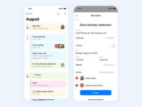 Smart Calendar pattern ux calendar covid19 pantone music icons detail dashboad coronavirus application apple app app design mobile ios blue icon flat clean