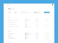 Integration dashboard project screen