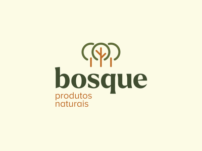 Bosque Natural Products healthy health natural food green tree logo bosque grove tree logo natural