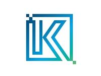 IT Company Logo - K letter initial