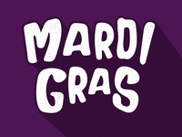 Fat Tuesday fat tuesday bubble letters mardigras lettering