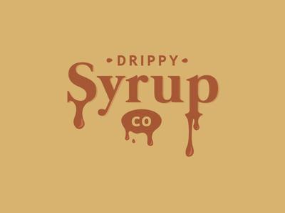 Drippy Syrup Co brand logo syrup logo design