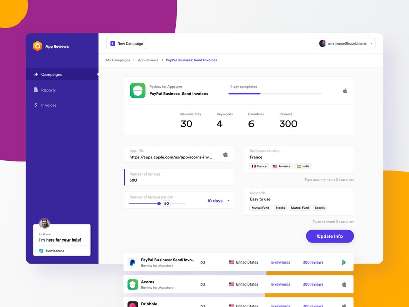 App Review | Dashboard