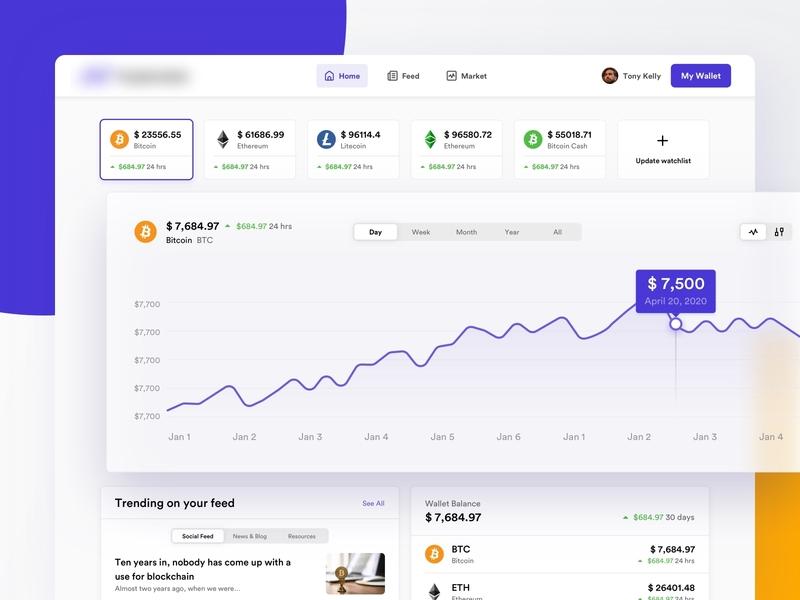 Cryptocurrency | Cross platform app interface
